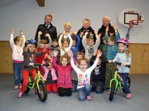 Laufräder an Kindergärten